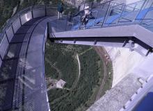 Kölnbreinsperre im Maltatal, 200m hoch mit Aussichtsplattform