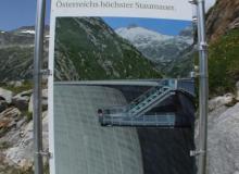 Höchste Staumauer Österreichs 200 m