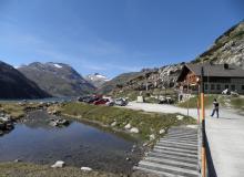 Maierhütte am Stausee, letzter Parkplatz