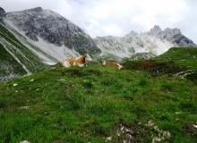 oberhalb der Franz Fischerhütte