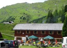 Sticklerhütte, Anfang des Murtalradweges