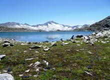 Schwarzhornsee mit Blick auf die Hochalmspitze