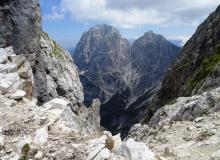 Die Berge bei Tarvis